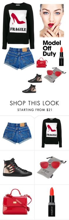 """Weekend Casual"" by kotnourka ❤ liked on Polyvore featuring Moschino, Gucci, Dolce&Gabbana and Smashbox"