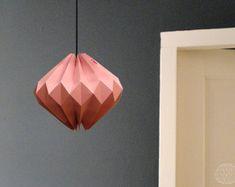 origami lamp shade: Pink Diamond