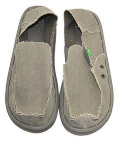 cf50bd52c0dcd6 Sanuk Mens Sandals 10 VAGABOND SMF1001 Sidewalk Surfer Handmade Canvas Shoes  NEW Sanuk Mens