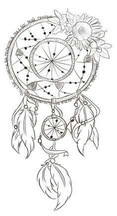 For those of you who don& know, I& got a reeeeaaal Fetish obsession with tattoos. I& got two already, and this one is going to be my next one! It& go from mid-boob area on my chest, down to . Dream Catcher Coloring Pages, Dream Catcher Drawing, Dream Catcher Tattoo Design, Coloring Book Pages, Dreamcatcher Wallpaper, Dreamcatcher Design, Tattoo Sketches, Tattoo Drawings, Body Art Tattoos
