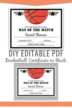 Editable Pdf Sports Team Soccer Certificate Award Template In