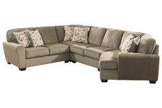 Patola Park, Patina from Ashley Furniture - $2250 total for this configuration (corner cuddler, armless love seat, wedge, love seat, plus not pictured ottoman)
