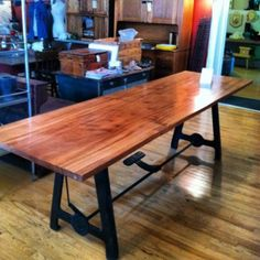 metal factory table base furniture - Google Search