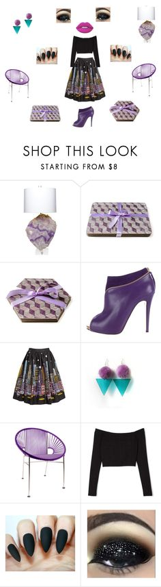"""""""Purple rules!"""" by einder ❤ liked on Polyvore featuring Times Two Design, Christian Louboutin, Innit and Lime Crime"""