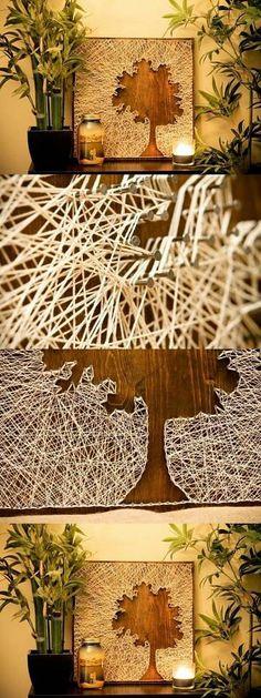 DIY Thread and Nails Panel DIY Projects | UsefulDIY.com