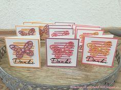 Stampin UP, Thank You, Card, Dankes Karte, Danke, Dankeskärtchen, Schmetterling, Butterfly, In Color, Playful Backround, Strips, Streifen