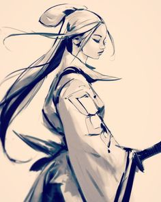 ✔ Anime Sketch Warrior How To Draw Samurai Drawing, Warrior Drawing, Drawing Sketches, Art Drawings, Sketch Art, Drawing Tips, Ross Draws, Arte Ninja, Trans Art