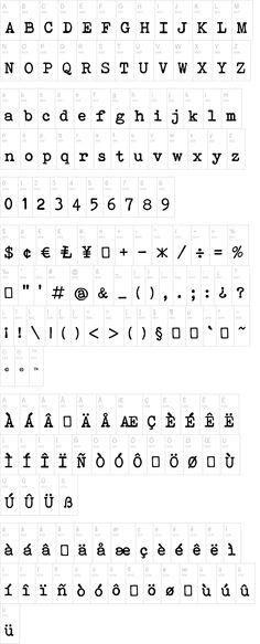 Bohemian Typewriter Font | dafont.com, By:  Lukas Krakora