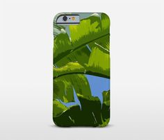 Leaf Phone Cover Banana Leaf Art Cell Phone Case by Macrografiks