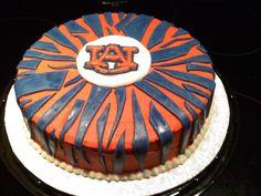 AUBURN TIGER STRIPES CAKE