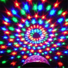 3 와트 DJ 빛 RGB 색상 변경 사운드 Actived 크리스탈 매직 미니 디스코 볼 무대 조명 KTV 크리스마스 웨딩 파티 빛