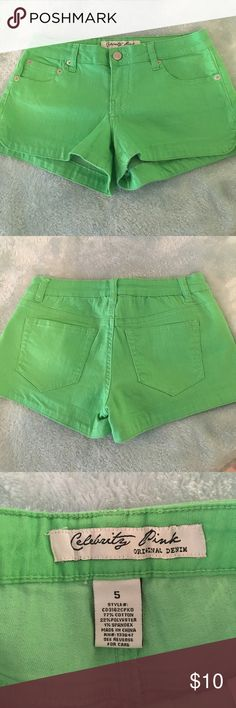 🌟Donating soon🌟 Lime green stretchy shorts 💚 Lime green shorts! These are so stretchy and comfortable. As always- 🔻Smoke free and pet free 🔻Ask for questions or any measurements  🔻 Buy 2 things from my closet get 10% off  🔻Ships same day or the next  🔻I accept reasonable offers & no trades Celebrity Pink Shorts