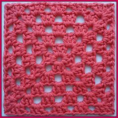 Karin on the hook: Pattern Granny Square (one color)