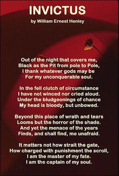 Invictus Poem on Pinterest   Broken Soul Quotes, Chris ...