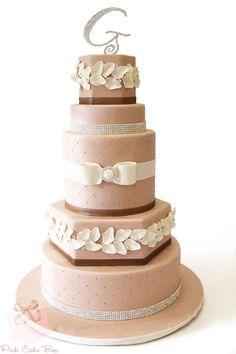 Autumn Bling Wedding Cake by Pink Cake Box