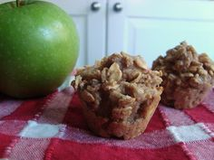 Oatmeal apple cinnamon mini-muffins (gluten, dairy, egg, and nut-free)
