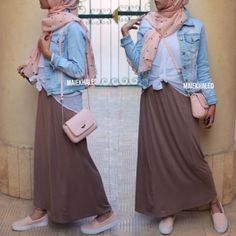 casual teen hijab outfit, Hijab spring street fashion http://www.justtrendygirls.com/hijab-spring-street-fashion/