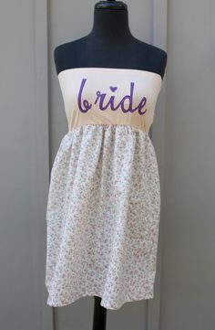 Pink and Purple BRIDE Dress  Sm/Md by thearmorofGod on Etsy, $49.00