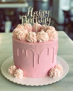 Simple Birthday Cake Designs, Birthday Cake For Women Simple, Beautiful Birthday Cakes, Elegant Birthday Cakes, 15th Birthday Cakes, Bithday Cake, Homemade Birthday Cakes, Makeup Birthday Cakes, Cake Decorating Frosting