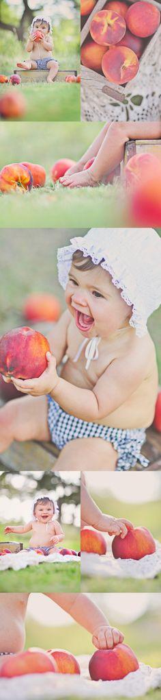 peach photo shoot...adorable!