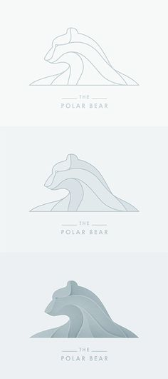 I like this development of a polar bear. I like how you can visually see the distinctions in the lines which are later added with various shades od grey-blues. It reveals the shape and shading from the direction of the light on the image. The polar bear logostep