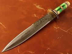 HANDMADE FORGED DAMASCUS BOWIE KNIFE       FOR ORDER: bhrcuttlery2015@gmail.com, bilal.anjum@kmatraders.net