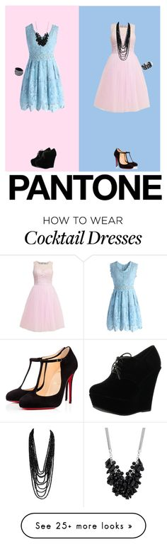 """""""Contest Entry"""" by belle909 on Polyvore featuring Chicwish, Christian Louboutin, Forever Link, Betty Jackson and Waterford"""