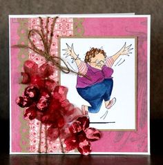 Art Impressions Ai Golden Oldies Tillie (Sku#P1934) Handmade card (maybe for a birthday?)
