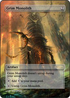 Magic The Gathering Grim Monolith Proxy