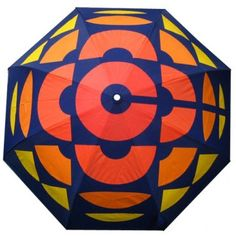 Always be prepared for the rain with this push button auto open and close telescopic folding umbrella.  Compact size and Retro look with the CBC 70s era logo printed across all panels on a blue canopy.  Comes with a matching coloured sleeve for easy storage.