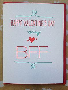 Friend Valentine's Day Card - Best Friend Valentine - Funny ...