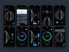 Knight Rider App control tesla charge car ios ux ui app