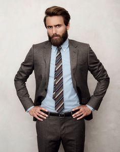 Gucci suit and tie, Ralph Lauren shirt.