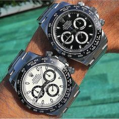 Pair of Aces. The New Rolex Daytona Ceramic 116500. See site. #rolex #rolexero credit @watchmania #rolexdaytona #daytona #rolexpassion #rolexwatch #watchoftheday #watchuseek #dailywatch #watchesofinstagram #gq