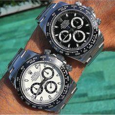 Pair of Aces. The New Rolex Daytona Ceramic 116500. See site. #rolex #rolexero credit @watchmania #rolexdaytona #daytona #rolexpassion #rolexwatch #watchoftheday #watchuseek #dailywatch #watchesofinstagram #gq