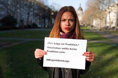 Hier sind einige der Fotos aus der Kampagne im Dezember 2014 | Studenten kritisieren rassistisches Firmenlogo und werden bedroht