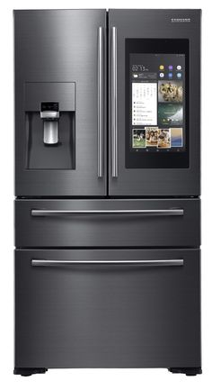 Samsung updates Family Hub for connected fridges - HOME - High-tech - News Best Appliances, Kitchen Appliances, Mini Sala, Best Home Automation, Samsung Fridge, Fridge Decor, Kitchen Gadgets, Home Kitchens, Kitchen Remodel