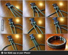 Braided Bracelet. I've got some clips like those in our - safe this it might be useful one day box - maybe ..