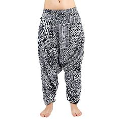 Buddha Pants Womens Savannah Flair Large White Tribal * Click image for more details.