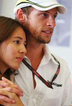 Jenson Button and Jessica Michibata - F1 Grand Prix of Monaco - Qualifying