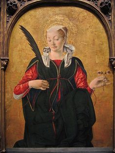Francesco del Cossa - Saint Lucy - Francesco del Cossa - Wikipedia, the free encyclopedia