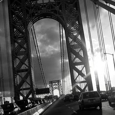 'The George Washington Bridge by KarenDinan Fort Lee, Washington Heights, Framed Prints, Canvas Prints, Hudson River, George Washington Bridge, New York City, Spaces, Pictures