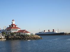 Long Beach Harbor and the Queen Mary Ship