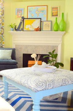 DIY Ottoman coffee table DIY home furniture