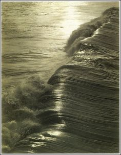 """Evening Wave, 1927 by Kentara Nakamura  .  """"I have sea foam in my veins,      I understand the language of waves.""""  .  Le Testament d'Orphée"""