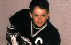 Baby Tazer....Toews #19 Blackhawks.  Not a hawks fan but I am a sucker for mini hockey players.  Just they effort I see them give at their games always makes me smile.