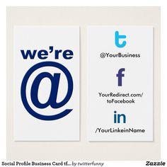 Social media business card facebook twitter market me pinterest social profile business card tfl20b werbl tflbak colourmoves