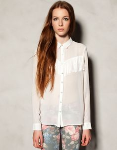 FRINGED BLOUSE - NEW PRODUCTS - WOMAN - United Kingdom