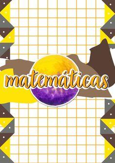 Plantilla y portada de Matemáticas. PDF en el link (click en las imágenes para verlo). Bullet Journal School, Bullet Journal Cover Ideas, Bullet Journal Lettering Ideas, Bullet Journal Inspo, Journal Covers, School Organization Notes, School Notes, Lettering Tutorial, Minnie Mouse Stickers