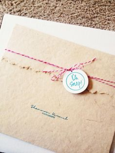 Photography Packaging Pink and Turquoise - Artisan Natural Portrait Cases with Teal imprinting from Rice Studio Supply